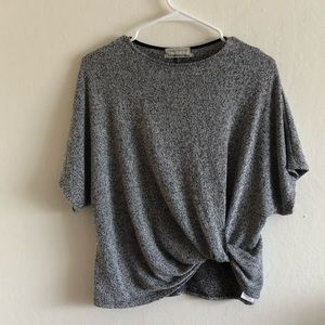 Urban outfitters gray short sleeve twist top